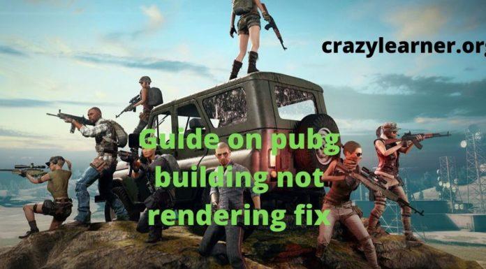 Pubg building Not Rendering Fix